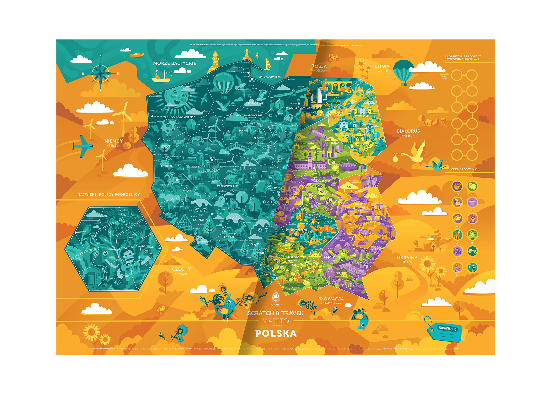 Mapa zdrapka – urozmaicenie pokoju dziecięcego!